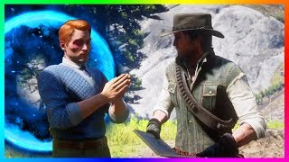 What Happens If John Marston Meets The Time Traveler Instead Of Arthur In Red Dead Redemption 2?