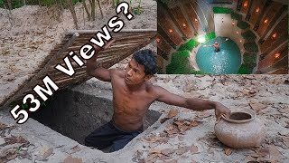 Building Most Secret Hidden Underground House with Underground Deep Pool To Avoid An Enemy