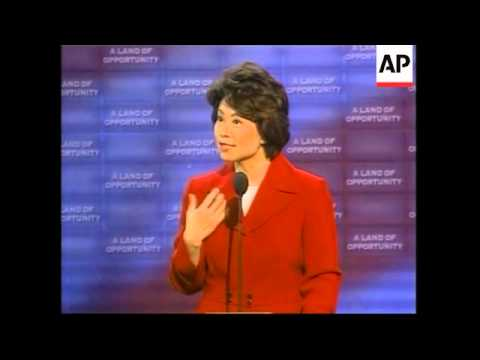 Elaine chao chinese born labour secretary at conference