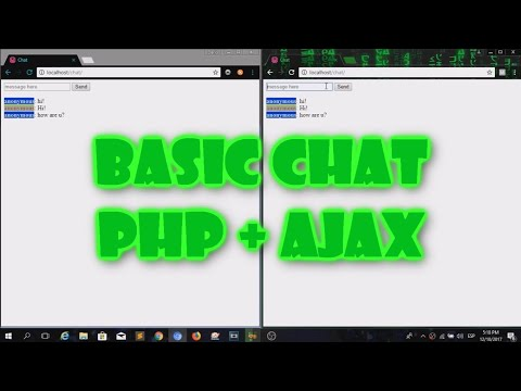 BASIC CHAT PHP + AJAX