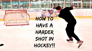 TIPS FOR HARDER WRIST & SNAP SHOTS IN HOCKEY
