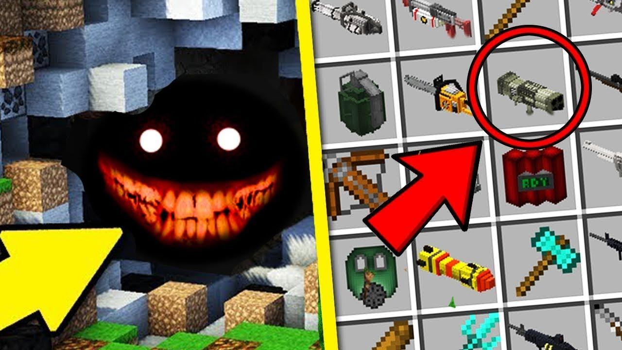Майнкрафт Оружие Мод как Сделать Оружие и Защита Нуба Зомби Апокалипсис Обзор Мода Minecraft Mods