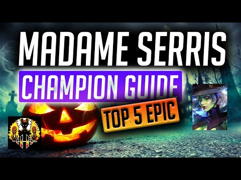 RAID: Shadow Legends | Madame Serris Champion Spotlight, Top 5 Epic In The Game! Void Arena GOD!