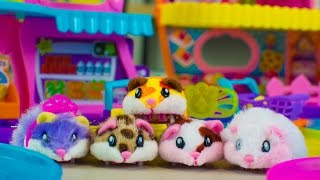 Hamsters in a House by Zuru Cute Animal Toys for Girls Kinder Playtime