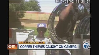 Copper Thieves Caught On Camera