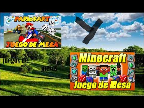 Juegos De Mesa Minecraft Y Mario Kart Youtube