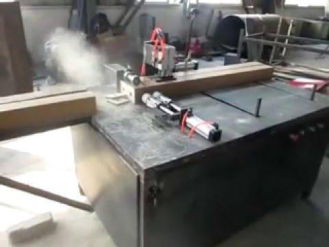 wood block cutting machine/wood pallet block cutter