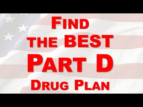 How To Find The Best Part D Drug Plan