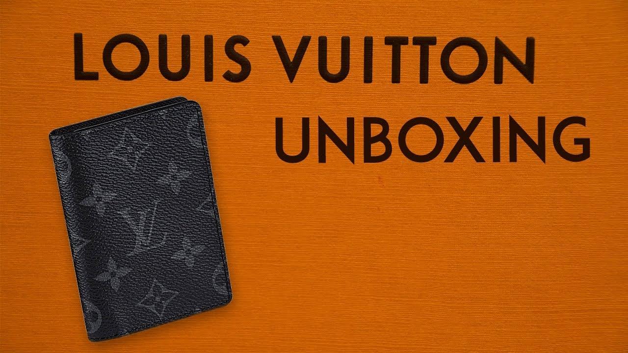 b1f9d1412177 Louis Vuitton Pocket Organizer Wallet Monogram Eclipse UNBOXING ...
