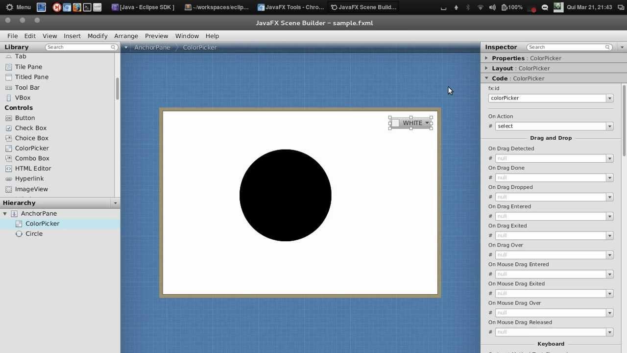 Javafx Eclipse