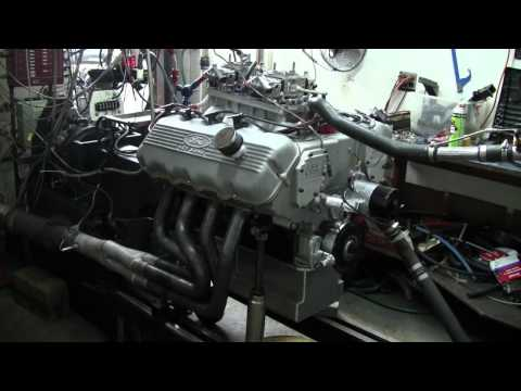 527 cubic inch 427 Ford SOHC on the dyno - 870 Horsepower!