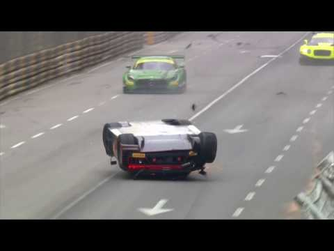 FIA GT World Cup 2016 at Macau, Vanthoor's massive airborne