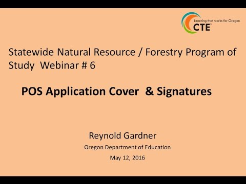 Webinar #6 - POS Application and Signatures