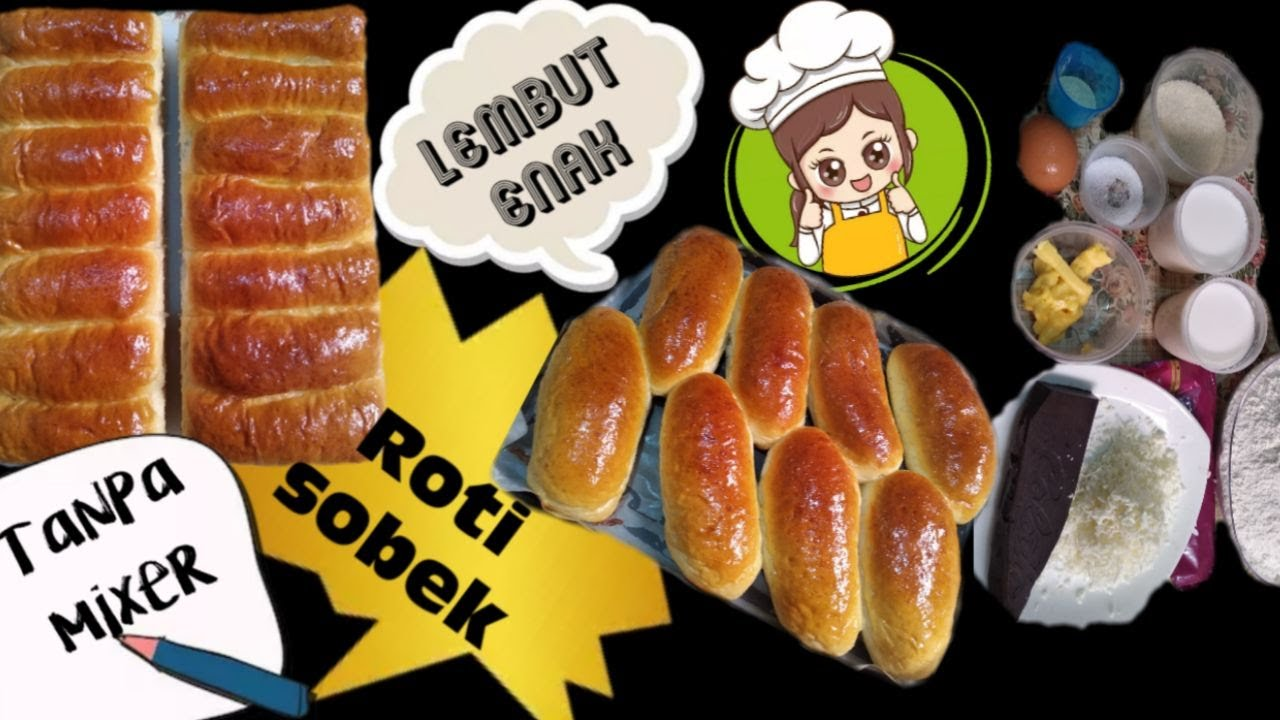 Cara membuat roti tanpa mixer, Anti Gagal ! - YouTube