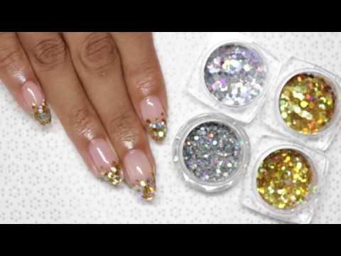 Encapsulated Glitter (Easy Gel Nail Art Tutorial)