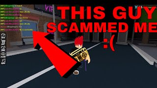 THIS GUY SCAMMED ME BY BETTING (ROBLOX ASSASSINS GOT SCAMMED :( )