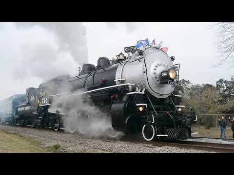 Louisiana Steam Train Association - Santa's North Pole Express with Southern Pacific 745