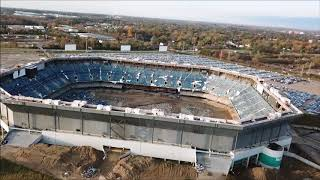 Pontiac Silverdome failed attempt to implode  12/3/17