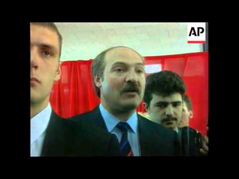 Belarus-President Votes In Country's First General