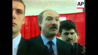 Belarus-President Votes In Country