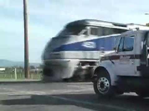 Train vs. Truck - YouTube