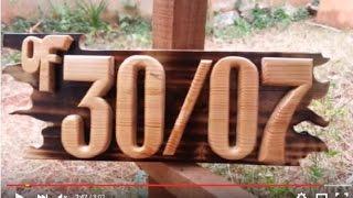 Cara Membuat Nomor Rumah dengan alat tradisional