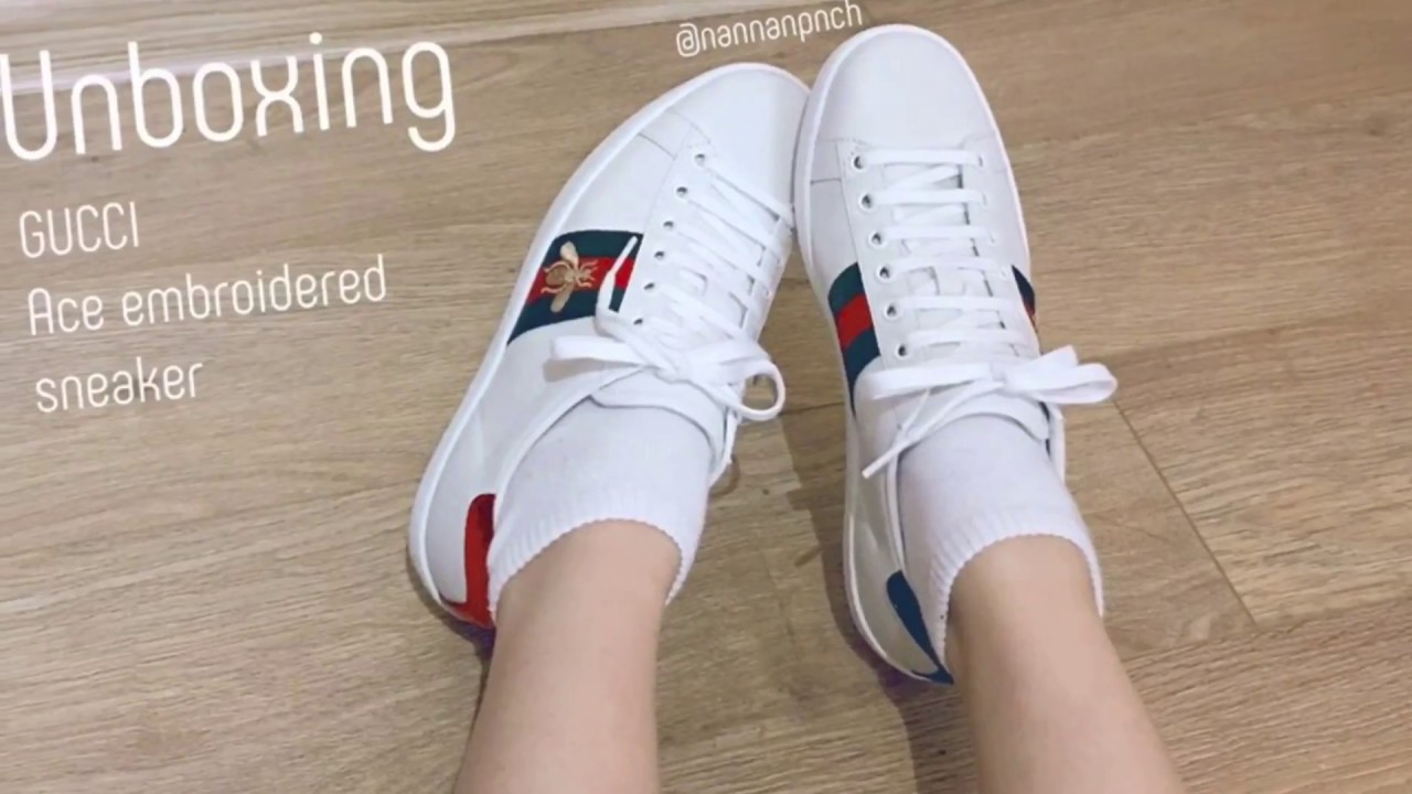 19a0abbe99bd UNBOXING) GUCCI Ace embroidered sneaker - YouTube