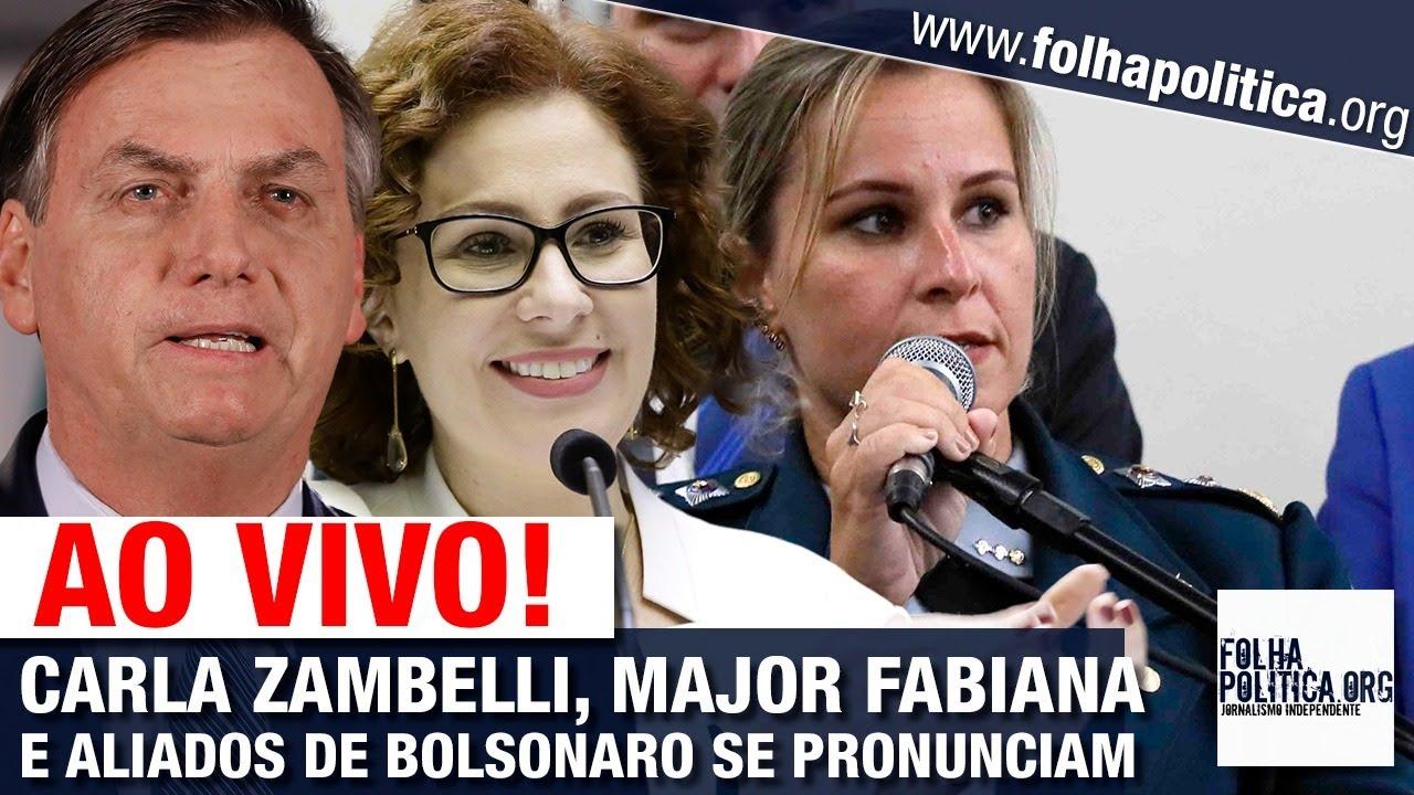 AO VIVO: CARLA ZAMBELLI, MAJOR FABIANA E ALIADOS DE BOLSONARO SE PRONUNCIAM - ALIANÇA PELO BRASIL