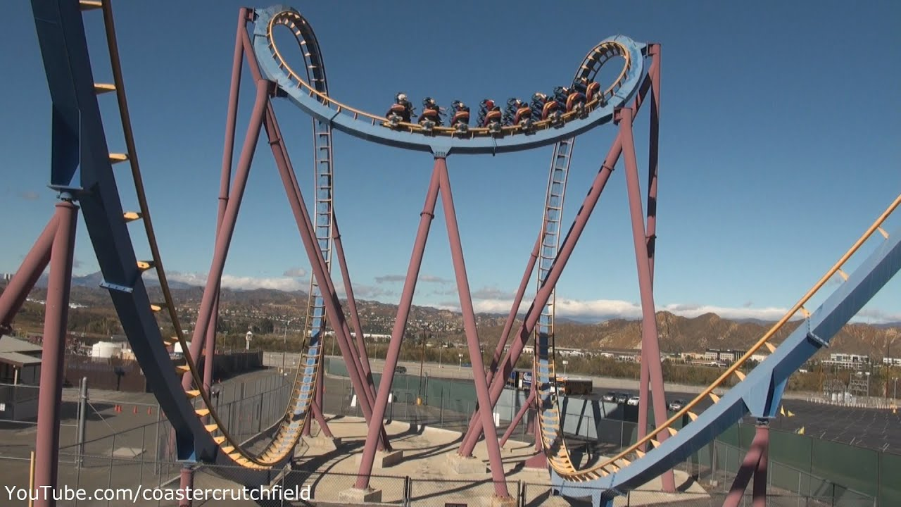 scream offride hd six flags magic mountain youtube