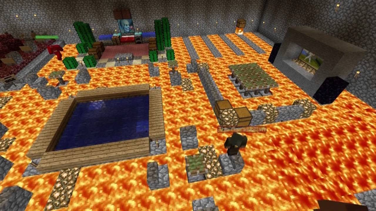 Things to do in minecraft the floor is lava youtube for Lava parquet