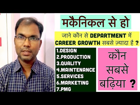 Career Growth in Mechanical Engineering? Which is best Department Production,Quality or Maintenance.