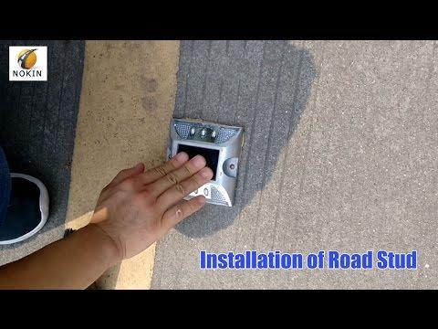 Installation of Road Stud