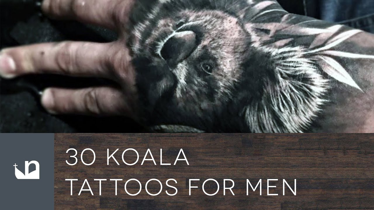 30 Koala Tattoo Designs For Men – Wild Animal Ink Ideas