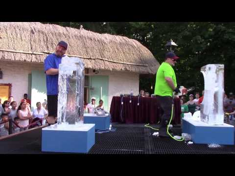 Ice Carving Competition - 2016 Food and Wine Festival - Busch Gardens Williamsburg