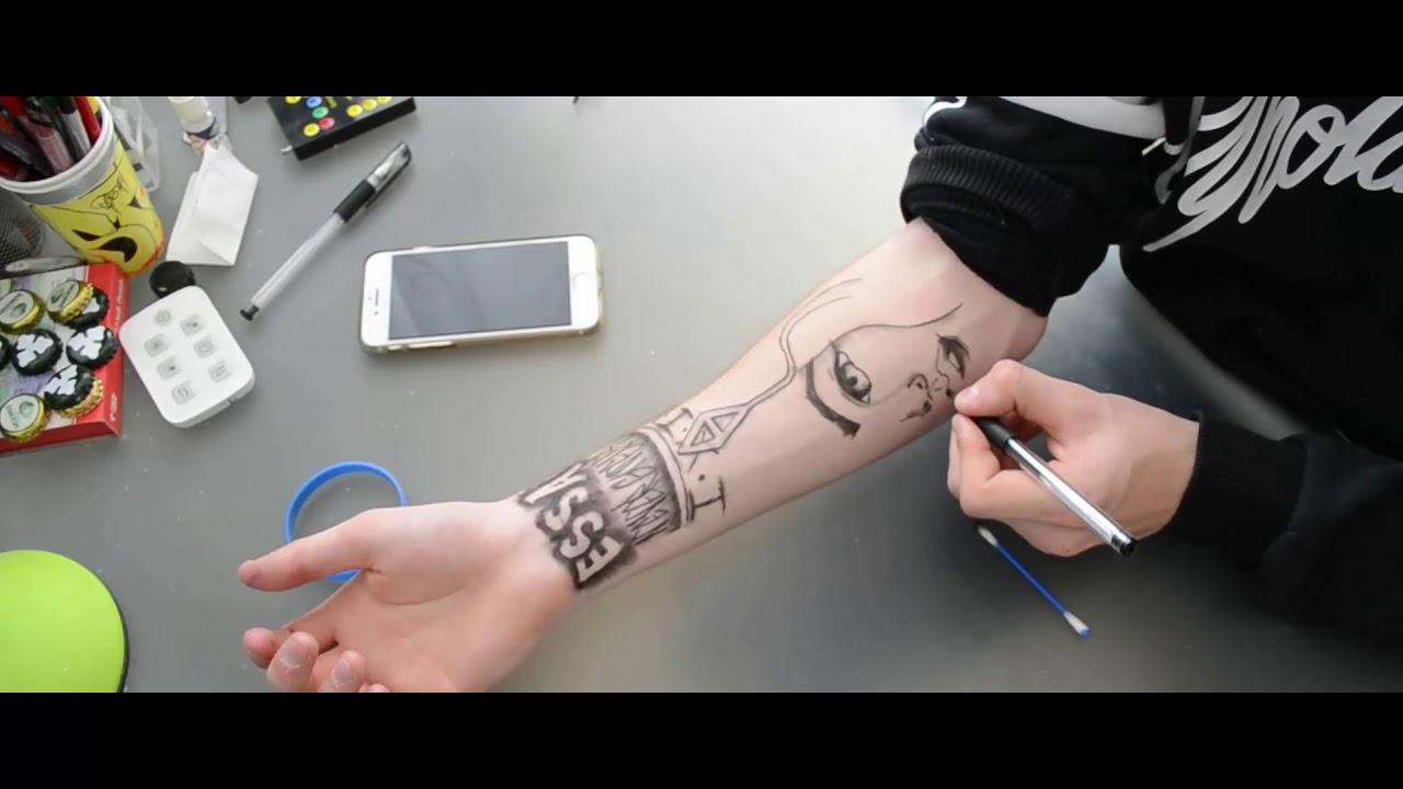 3 Tatuaż Długopisem Bez Problemu Tattoo Gel Pen