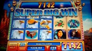 Great Eagle II Slot - $8 Max Bet Bonus - Super Big Win!