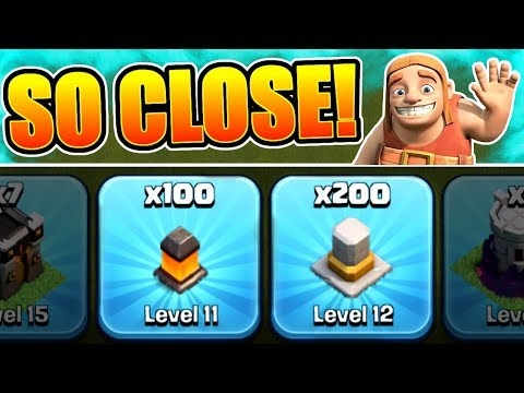 WE ARE ALMOST THERE!! - Clash Of Clans - ROAD TO TOWN HALL 12 DRAWS NEAR!