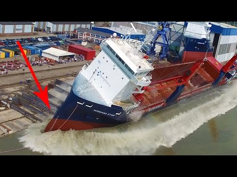 Big Ship Launch Compilation | 12 Awesome Ship Launches, Fail