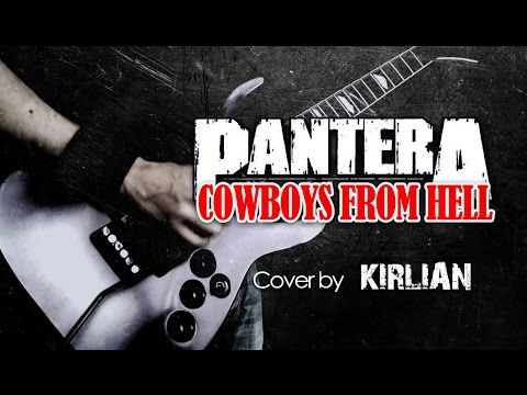 Pantera - Cowboys From Hell - Instrumental cover HD sound