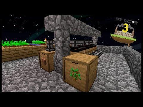 Máquina de Terra 100% Auto e Hortinha - Minecraft Skyfactory 06