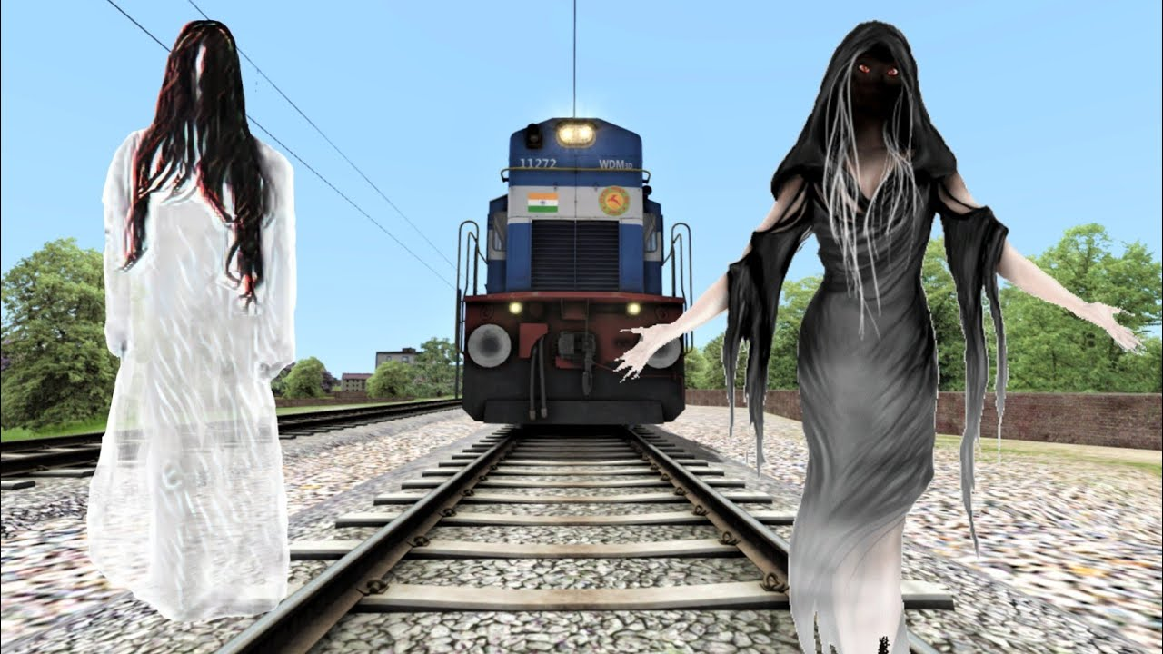 Ghost on Track tries To Stops The Train - Ghost Couple