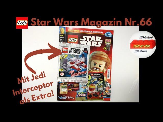 LEGO Star Wars Magazin Nr.66 mit Jedi Interceptor als Extra!/Review deutsch