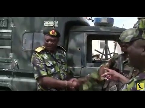 Never Seen Video of President Uhuru in Combat Gear Visiting KDF Troops in Somalia  (Video)