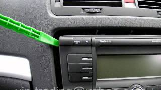 Removal Radio Stereo Skoda Volkswagen Seat Removing How Remove Octavia Fabia Golf Passat Bora