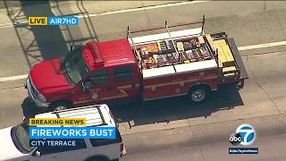 East LA driver arrested for 1,000 pounds of fireworks in trunk | ABC7