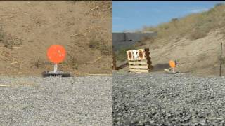 salute self resetting ar500 steel target vs pistol ammo