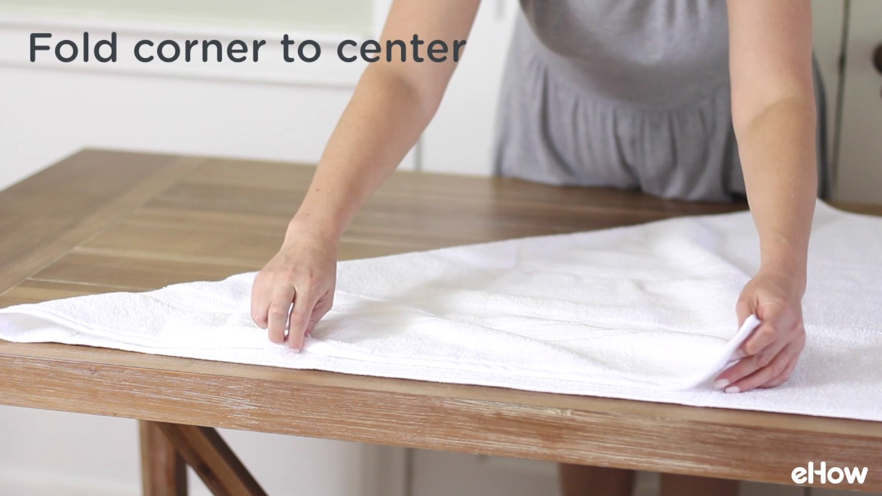 How To Fold Towels Youtube