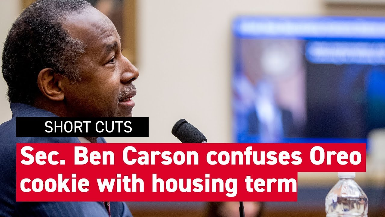 "Housing Secretary Ben Carson confuses real estate term ""REO"" with ""Oreo"""