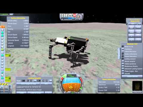 Munwalking Lander in Kerbal Space Program