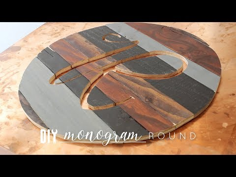 DIY Monogram Wood Round + How to Use a Scroll Saw (My First Time!)